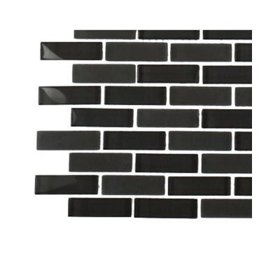 Contempo Smoke Gray Brick Glass Tile Sample