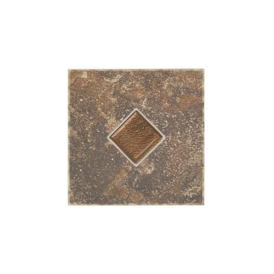 Castle De Verre Regal Rouge 6 in. x 6 in. Porcelain Decorative Floor and Wall Tile