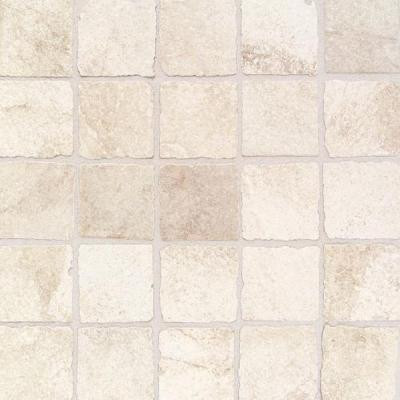 Portenza Bianco Ghiaccio 13-3/4 in. x 13-3/4 in. x 8 mm Porcelain Mosaic Floor and Wall Tile