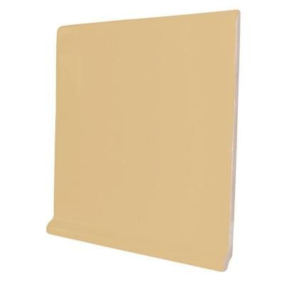Color Collection Matte Camel 6 in. x 6 in. Ceramic Stackable Right Cove Base Corner Wall Tile-DISCONTINUED
