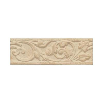 Salerno Nubi Bianche 3 in. x 10 in. Glazed Ceramic Floral Accent Wall Tile