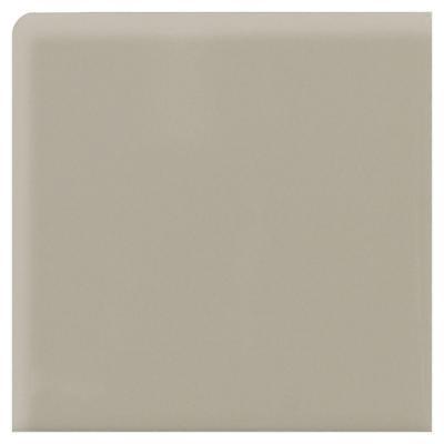 Semi-Gloss Architectural Gray 6 in. x 6 in. Ceramic Bullnose Corner Wall Tile