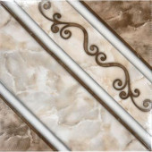 Ferrara Marron 17 in. x 17 in. Glazed Ceramic Floor and Wall Tile (23.14 sq.ft./case)