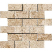 Montagna Cortina 12 in. x 12 in. Porcelain Brick-Joint Mosaic Floor and Wall Tile