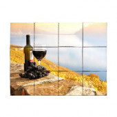 Wine1 24 in. x 18 in. Tumbled Marble Tiles (3 sq. ft. /case)