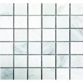 Greecian White 12 in.x 12 in. x 10 mm Honed Marble Mesh-Mounted Mosaic Tile