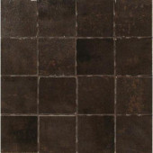 Vanity Black 12 in. x 12 in. Porcelain Mosaic Floor and Wall Tile-DISCONTINUED