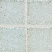 Sonterra Glass Ice White 12 in. x 12 in. x 6 mm Glass Sheet Mounted Mosaic Wall Tile
