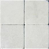 Crema Marfil 4 in. x 4 in. Tumbled Marble Floor and Wall Tile (1 sq. ft. / case)