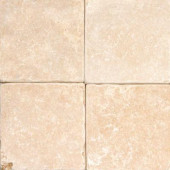 Oasis Gold 4 in. x 4 in. Tumbled Limestone Floor and Wall Tile (1 sq. ft. / case)