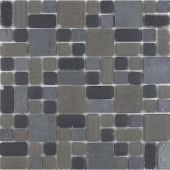 No Ka 'Oi Haleakala-Hal420 Stone And Glass Blend Mesh Mounted Floor and Wall Tile - 3 in. x 3 in. Tile Sample