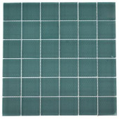 Contempo Turquoise Frosted 12 in. x 12 in. x 8 mm Glass Mosaic Floor and Wall Tile
