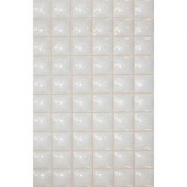 Mosaico Star 13 in. x 8 in. White Ceramic Tablet Mosaic Tile-DISCONTINUED