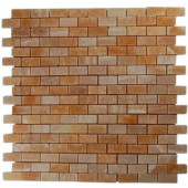 Honey Onyx Brick 12 in. x 12 in. Marble Floor and Wall Tile-DISCONTINUED