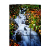 Waterfall1 18 in. x 24 in. Tumbled Marble Tiles (3 sq. ft. /case)