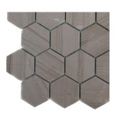 Athens Grey Hexagon Polished Marble Floor and Wall Tile Sample