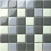 12.5 in. x 12.5 in. Capri Grigio Mix Glossy Glass Tile-DISCONTINUED