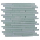 Temple Tranquility 12 in. x 12 in. x 8 mm Glass Mosaic Floor and Wall Tile