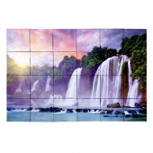 Waterfall2 36 in. x 24 in. Tumbled Marble Tiles (6 sq. ft. /case)