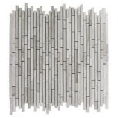 Windsor Random Wooden Beige 12 in. x 12 in. x 8 mm Marble Floor and Wall Tile