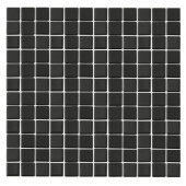 Monoz M-Black-1401 Mosaic Recycled Glass 12 in. x 12 in. Mesh Mounted Floor & Wall Tile (5 sq. ft.)