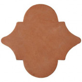 Handmade Terra Cotta Medallon 6-1/2 in. x 6-1/2 in. Floor and Wall Tile