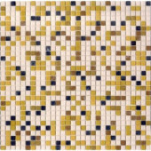 12.8 in. x 12.8 in. Venice Golden Sand Mix Frosted Glass Tile-DISCONTINUED
