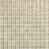Brushstrokes Chiarro-1502 Mosaic Glass Mesh Mounted - 4 in. x 4 in. Tile Sample-DISCONTINUED