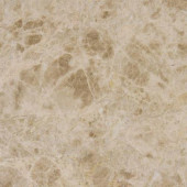 Emperador Light 12 in. x 12 in. Polished Marble Floor and Wall Tile (10 sq. ft. / case)