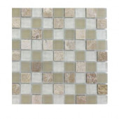 Champs-Elysee Blend 1/2 in. x 1/2 in. Glass Tile Sample