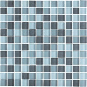Color Blends Gris Neblina-1600-M Matte Mosaic Glass Mesh Mounted Tile - 4 in. x 4 in. Tile Sample-DISCONTINUED