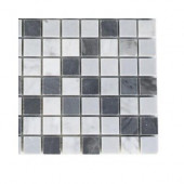 Carrera and Bardiglio Blend Marble Tile Sample