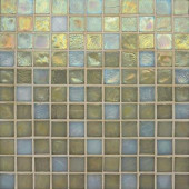 Edgewater Del Mar 1 in. x 1 in. 11-3/4 in. x 11-3/4 in. Glass Floor & Wall Mosaic Tile-DISCONTINUED
