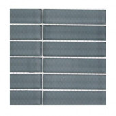 Contempo Blue Gray Polished Glass Tile Sample(1 sq. ft.)