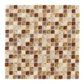 Vintage Merlot 12 in. x 12 in. x 8 mm Glass Onyx Mosaic Wall Tile