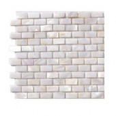 Pitzy Brick Castel Del Monte White Pearl Tile Mini Brick Pattern - 6 in. x 6 in. x 8 mm Floor and Wall Tile Sample