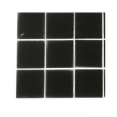 Contempo Classic Black Frosted Glass - 6 in. x 6 in. Tile Sample-DISCONTINUED