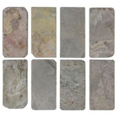 Multi-Colored Slate 3 in. x 6 in. x 8 mm Floor and Wall Tile (8 pieces/1 sq. ft./1 pack)