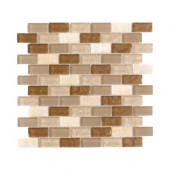 Honey Onyx Brick 12 in. x 12 in. x 8 mm Glass Onyx Mosaic Wall Tile
