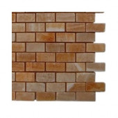 Honey Onyx Brick Marble Floor and Wall Tile - 6 in. x 6 in. Tile Sample-DISCONTINUED