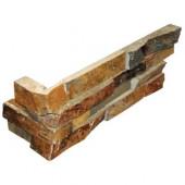 California Gold Ledger Corner 6 in. x 18 in. x 6 in. Natural Slate Wall Tile (4 sq. ft. / case)