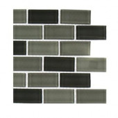 Shade 1 in. x 2 in. Glass Tile Sample