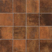 Vanity Rust 12 in. x 12 in. Porcelain Mosaic Floor and Wall Tile-DISCONTINUED