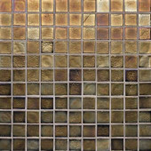 Edgewater Dusk 1 in. x 1 in. 11 3/4 in. x 11 3/4 in. Glass Floor & Wall Mosaic Tile-DISCONTINUED
