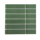 Contempo Spa Green Polished Glass - 6 in. x 6 in. Tile Sample-DISCONTINUED