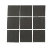 Contempo Smoke Gray Frosted Glass Tile Sample