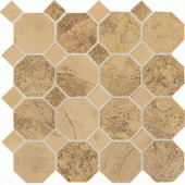 Aspen Lodge Golden Ridge 12 in. x 12 in. x 6 mm Porcelain Octagon Mosaic Floor and Wall Tile (7.74 sq. ft. / case)