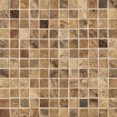 Jade 13 in. x 13 in. x 8-1/2 mm Chestnut Porcelain Mesh-Mounted Mosaic Floor and Wall Tile