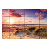 Beach1 36 in. x 24 in. Tumbled Marble Tiles (6 sq. ft. /case)