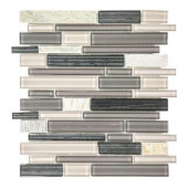 Platinum Pearl Pencil 10.625 in. x 12 in. x 8 mm Quartz and Glass Mosaic Wall Tile